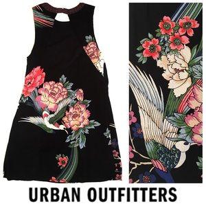 Urban Outfitters High Neck Sleeveless Black Dress
